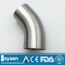 Stainless Steel Hygienic 45 Deg Elbow with tangent