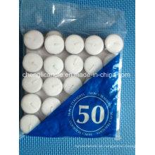 Weiße Paraffin-Wachs-rauchfreie hohe Qualität weiße gepresste Tealight-Kerzen