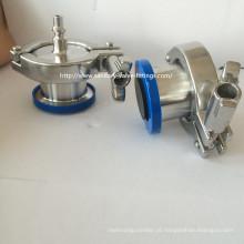 """4 """"316L aço inoxidável Sanitary Air Blow válvula de retenção Nipple Connect"""