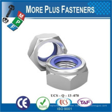 Made in Taiwan DIN 985 Stainless Steel Self Locking Prevailing Torque Type Hexagon Nylon Nut Plastic Insert