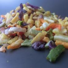Gesundes Imbissvakuum gebratenes Gemüse