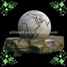 Granite round rotating ball fountain sculptureYL-X008