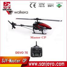 Venta caliente Walkera Master CP Flybarless 6-axis-Gyro cepillado 2.4G 6CH 3D RC Helicóptero con DEVO-7E Transmisor SJY-Master CP