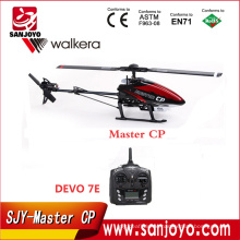 Hot selling Walkera Master CP Flybarless 6-axis-Gyro Brushed 2.4G 6CH 3D RC Helicopter With DEVO-7E Transmitter SJY-Master CP