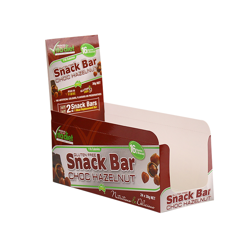 Custom Printing Paper Snack Bar Display Boxes