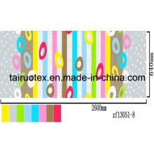 100% pongé imprimé par polyester pour le tissu de feuille de lit