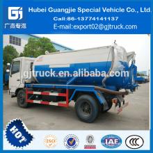 Venta caliente 8000L Dongfeng 4 * 2 camión de succión fecal de la bomba de vacío en venta