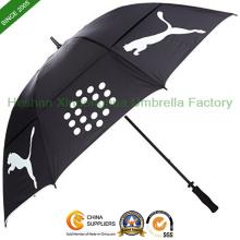 Double ouverture manuelle Canopies Windproof Golf parapluie (GOL0027FDA)