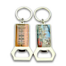 Kundenspezifischer Metallflaschenöffner-Schlüsselbund für Werbegeschenke