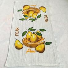 Toalla de té impresa terry de la cocina del algodón del precio de fábrica hecha en China