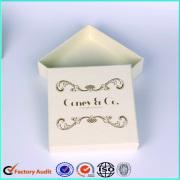 Customized Logo Fancy Cardboard Jewelry Ring Box