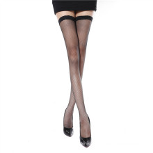 Ultra transparent small fishnet thigh high stockings sexy pantyhose women