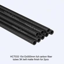 Hot selling twill plain fabric carbon fiber tube
