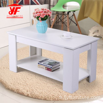 Dessins de table centrale rectangulaire extensible en bois
