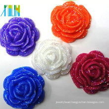 plastic flat back cabbage bright color resin flower