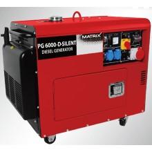 Générateur diesel à refroidissement par air silencieux Triphasé 5kw Bn5800dse / C