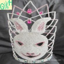 Coronas de tiaras, grande coroa de desfile, tiaras de alto animal a venda