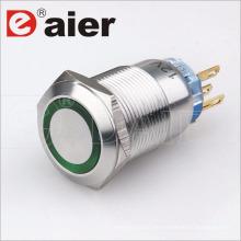 16mm wasserdichter 5-poliger Druckknopfschalter aus Metall