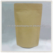 Pure Kraft Beautiful Stand up / Doypack Kraft paper / Al / PE packaging Estuche para café u otros con impresión o ventana