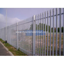 Galvanised steel palisade fencing