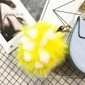 Mejor venta accesorios de llavero de piel de pompón piña