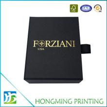 Custom Design Slide Black Jewelry Box Cardboard