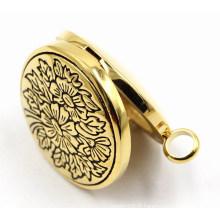 Rd Magnet Style Stainless Steel Perfume Locket Pendant