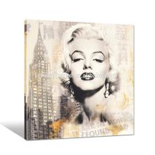 Marilyn Monroe Lienzo Lienzo / Estrella de la pared de la imagen de Hang / Vintage Wall Wall Art Venta al por mayor