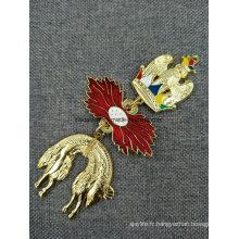 La coutume 3D meurent la médaille de lanière de ficelle de ruban de cou d'émail