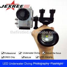 JEXREE Nueva película de vídeo equipo de impermeable buceo equipo de fotografía de vídeo de luz
