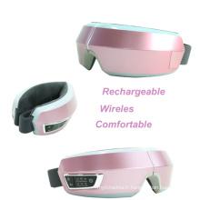 Masseur rechargeable sans fil rechargeable de corps de massage d'oeil de chauffage