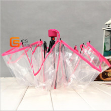 Prink Edage Clear Foldable Poe Umbrella (YS-T1004A)