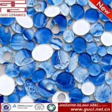 telhas de vidro do mosaico oval novo do projeto no acrílico para a decoração da parede da casa