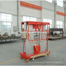 Elevador de dos polos de aluminio móvil hidráulico