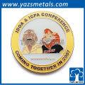 Emblema de pino de metal redondo personalizado / emblema de pino de esmalte / idoa icpa conerence pin badge