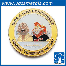 Badge en métal rond en forme de badge / badge en émail / idoa icpa conerence pin badge