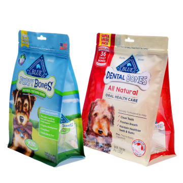 Flat Bottom Dengan Zipper Dog Food Pouches