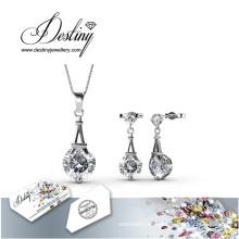 Destino joyería cristal Swarovski París conjunto de colgante y pendientes