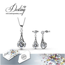 Destiny Jewellery Crystal From Swarovski Paris Set Pendant and Earrings