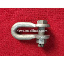 U type shackle for link fitting