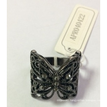 New Style Black Lace Ring with Metal