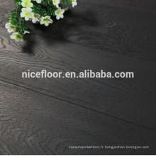 Plancher en bois massif à trois couches ENGINEERED BLACK OAK WOOD Epaisseur 14mm