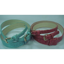 Fashion Crocodile-embossed leather belt