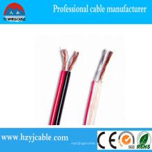 Diferentes tipos de alambre eléctrico Cable de altavoz de PVC transparente