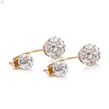 Popular White Crystal Stainless Steel Stud Earrings Price