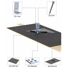 Système de toiture de panneau solaire imperméable de toit de clignotant