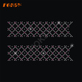 Cheer Bow Strip Quilted Diamond Iron en transferencia de brillo