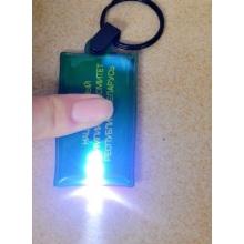 PVC promocional Keychain com led