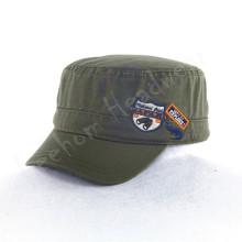 Caps militares azeitona lavados com remendo da etiqueta