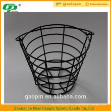 Manija de metal Canasta de bolas de golf alambre de hierro